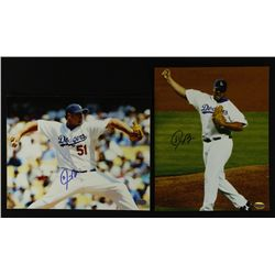 Lot of (2) Jonathan Broxton Signed Dodgers 8x10 Photos (SI COA)