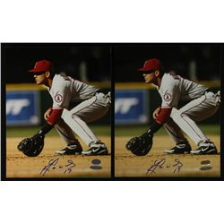 Lot of (2) Kendry Morales Signed Angels 8x10 Photos (UDA)
