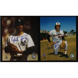Lot of (2) Mike Torrez Signed 8x10 Photos (SI COA)