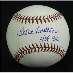 "Steve Carlton Signed OML Baseball: Inscribed ""HOF 94"" (JSA COA)"