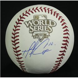 Matt Cain Signed 2010 World Series Baseball (SI COA)