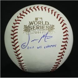 "Jason Motte Signed 2011 World Series Baseball: Inscribed ""2011 WS Champs"" (SI COA)"