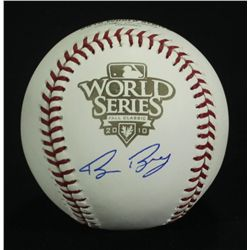 Bruce Bochy Signed 2010 World Series Baseball (GTSM)