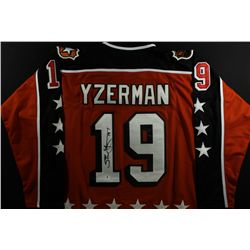 Steve Yzerman Signed All-Star Jersey (GA COA)