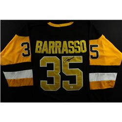 Tom Barrasso Signed Penguins Jersey (GA COA)