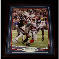 Ahmad Bradshaw Giants Super Bowl 22x26 Custom Framed Display