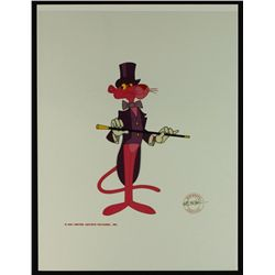 "Pink Panther Limited Edition Animation Serigraph Cel: ""Showtime Panther"""