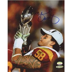 Rey Maualuga Signed USC 8x10 Photo (SI COA)