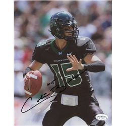 Colt Brennan Signed University of Hawaii 8x10 Photo (JSA)