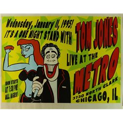 "Tom Jones 22x17 ""Live At The Metro"" Concert Poster From 1995"
