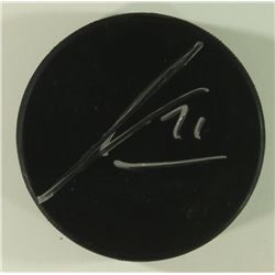 James Van Riemsdyk Signed Puck (JSA COA)