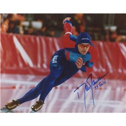 "Dan Jansen Signed Team USA 8x10 Photo: Inscribed ""94 Gold"" (GA COA)"