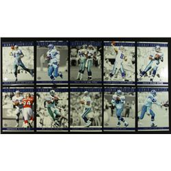 "Set of 10 Blow-up Upper Deck Troy Aikman Cards: ""Aikman Chronicles"""