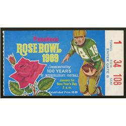 Vintage 1969 Rose Bowl Football Ticket Stub