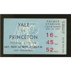 1959 Yale vs. Princeton College Football Ticket Stub