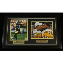 Hines Ward Signed Steelers 16x26 Custom Framed Piece (JSA COA)