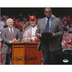 Bob Gibson Signed Cardinals 8x10 Photo (SI COA)