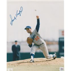 Sandy Koufax Signed Dodgers 8x10 Photo (AR COA)