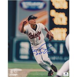 "Cal Ripken Jr Signed Orioles 8x10 Photo: Inscribed ""HOF 2007"" (GA COA)"