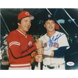 Carl Yastrzemski & Johnny Bench Signed 8x10 Photo (JSA LOA)