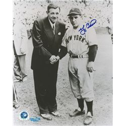 Yogi Berra Signed Yankees 8x10 Photo with Babe Ruth (MLB & Steiner COA)