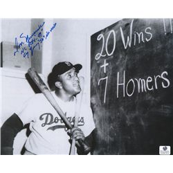 Don Newcombe Signed & Inscribed Dodgers 8x10 Photo (GA COA)