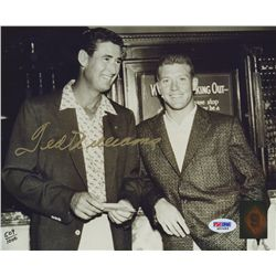 Ted Williams Signed 8x10 Photo with Mickey Mantle: LE #509/1000 (Green Diamond & PSA LOA)