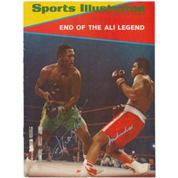 Mahammad Ali & Joe Frazier Signed Vintage Sports Illustrated Magazine (JSA LOA)