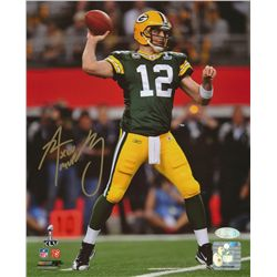 "Aaron Rodgers Signed Packers Super Bowl XLV 8x10 Photo: Inscribed ""XLV MVP"" (Steiner COA)"