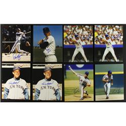 Lot of (40) Signed Mets 8x10 Photos with Kingman, Fisher, Stallard, Saberhagen (PA LOA)