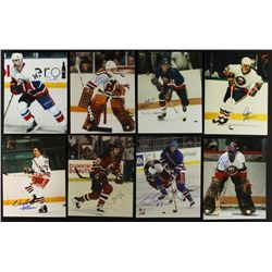 Lot of (14) Signed Hockey 8x10 Photos (PA LOA)