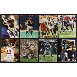 Lot of (19) Signed Football 8x10 Photos including Taylor, Johnson, Berry (PA LOA)