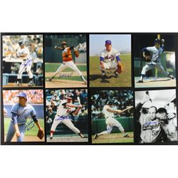 Lot of (42) Signed Baseball 8x10 Photos including Garvey, Blue, Powell, John (PA LOA)