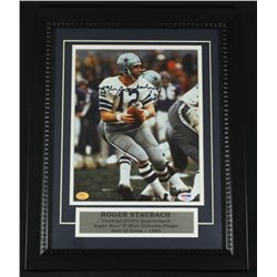 Roger Staubach Signed Cowboys 13x16 Custom Framed Photo (PSA COA)