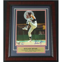 Nolan Ryan Signed Astros 13x16 Custom Framed Photo (Ryan Hologram)