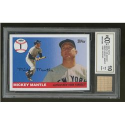 2006 Topps Mantle HR History #MHR1 Mickey Mantle Game-Used Bat Card (BCCG 10)