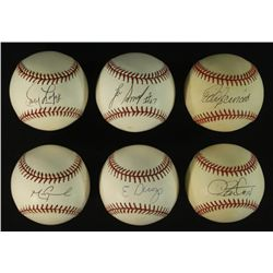 Lot of (6) Signed Baseballs With Mark Grace, Lee Smith, Dave Stewart  (PA LOA)