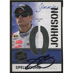 Jimmie Johnson Signed 2010 Press Pass LE Race-Used Tire Card #98/250 (JSA COA)