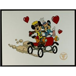 "Mickey Mouse & Minnie Mouse Walt Disney Limited Edition Animation Serigraph Cel: ""Nifty Nineties"""
