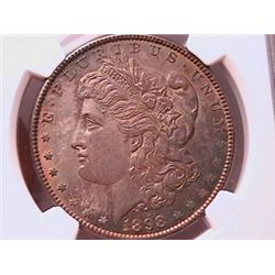 1898 Morgan Dollar MS63 NGC Color Coin