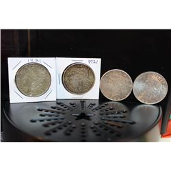 2 MORGANS ( 1921 )- 2 PEACE (1922, 1925) -