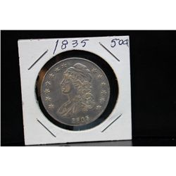 1835 BUST 50 CENT PIECE - VERY GOOD OR BETTER