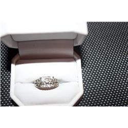 14 K WHITE GOLD WITH DIAMONDS 2 PIECE