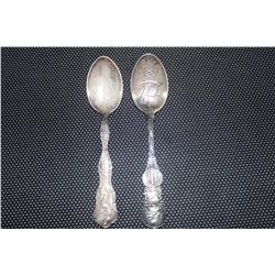 2 STERLING COMM. SPOONS - 1.5 OZ
