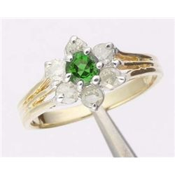 1 Ctw. Emerald & Diamond 10k Gold Ring