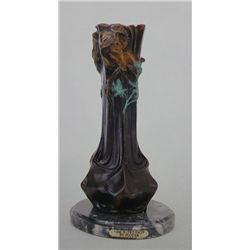 """Faces Vase"" Bronze Sculpture - Loran"
