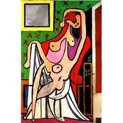 "Picasso ""Large Nude In Red Armchair"""