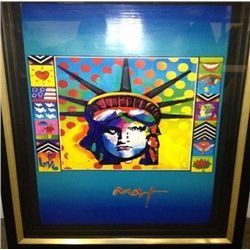 """Verizon (Liberty)"" Peter Max Original Mixed Media"