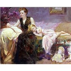 "Pino Hand Signed Giclee On Canvas ""Precious Moments"""