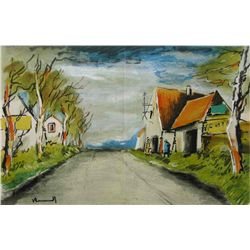 "Vlaminck ""The Road"" Lithograph"